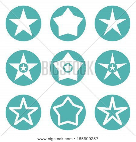 Star icon vector illustration isolated on white background