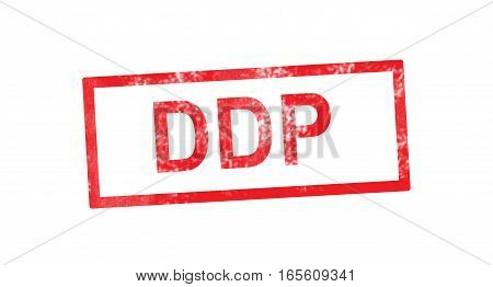 DDP acronym in a red rectangular stamp