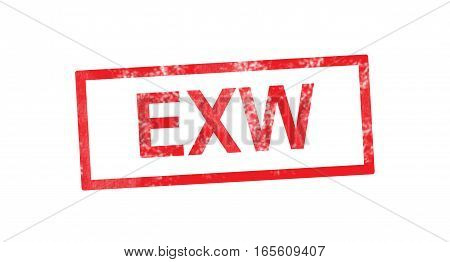 EXW acronym in a red rectangular stamp