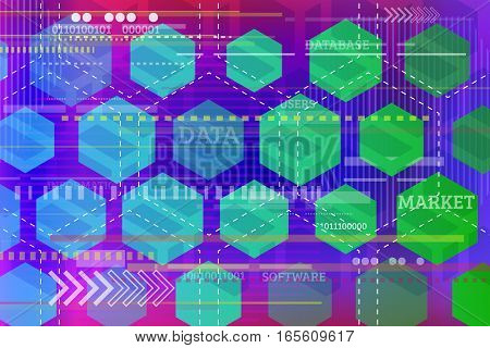 Digital technology concept. Abstract tech background with geometric shapes. High computer futuristic background. Vector illustration eps 10.