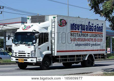 Container Truck Of Settaphon Logistics Transportation Company