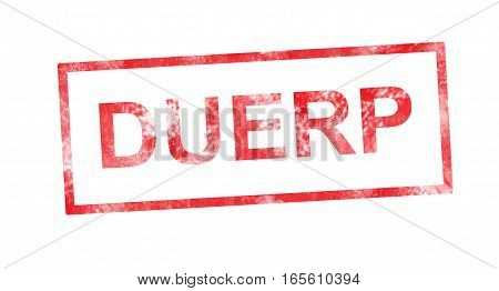DUERP acronym in a red rectangular stamp