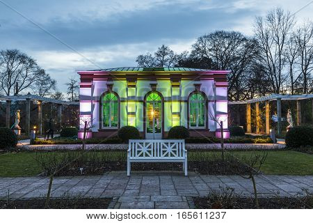 Light Event Winterlichter By Night In The Palmgarden In Frankfurt