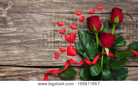 Roses And Red Hearts
