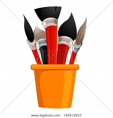 Illustration of Different Set of Paintbrush Stand