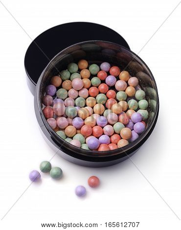 Varicoloured Blush Balls In Black Container