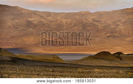 Desert Sunrise. Death Valley National Park, California, USA