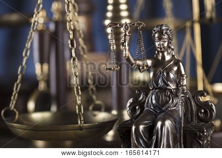 Law and justice concept - Themis and scale of justice