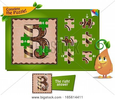 Puzzle Letters Of The Alphabet B