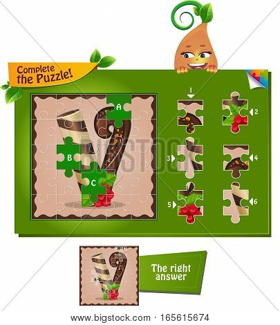 Puzzle Letters Of The Alphabet V