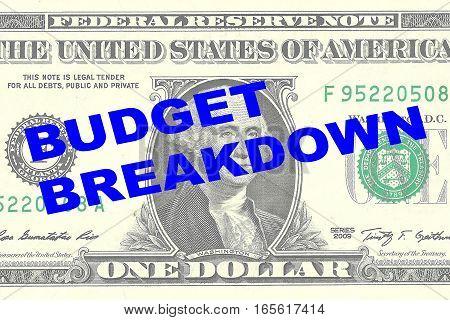 Budget Breakdown - Financial Concept