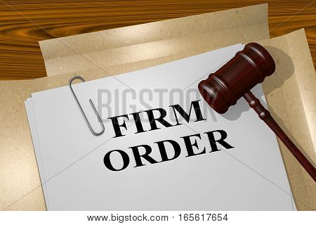 Firm Order - Legal Concept