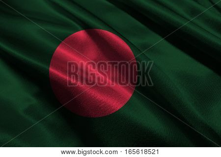 Bangladesh flag ,Bangladesh flag 3D illustration symbol.