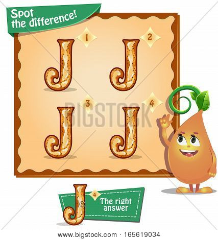 Spot The Difference Letters J