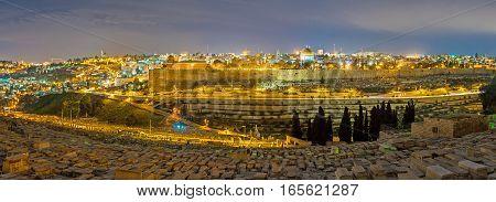 The Panorama Of The Illuminated Jerusalem