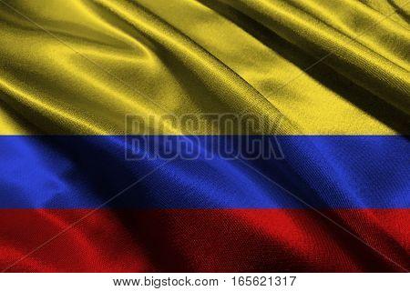 Columbia flag ,3D Columbia nation flag 3D illustration symbol.