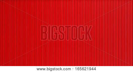 Red corrugated metal wall texture, painted wall backgrounds