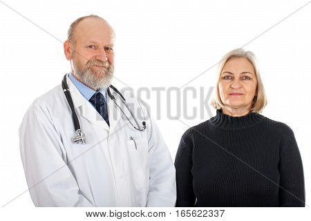 Picture of an elderly woman and her doctor