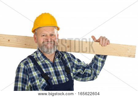 Picture of a confident engineer holding a lath
