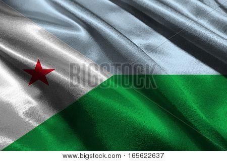 Djibouti flag ,3D Djibouti national flag 3D illustration symbol.