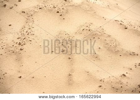 Nature landscape with lot of brown desert sand as background close up
