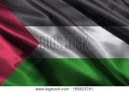 Palestine flag ,Palestine national flag 3D illustration symbol
