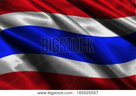 Thailand national flag 3D illustration symbol. .