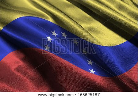 Venezuela national flag 3D illustration symbol .