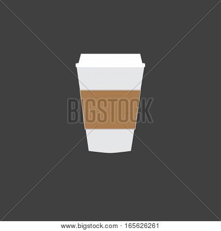 Disposable coffee cup icon.