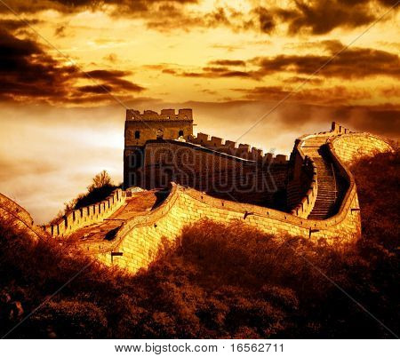 Great wall of Badaling,Beijing,China.