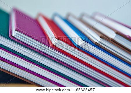 diagonal row of hardcover book. Classical book.