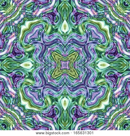 Vivid bright green and violet mysterious colored image design tile