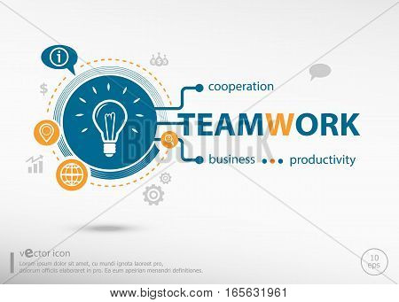 Teamwork Idea And Marketing Concept.