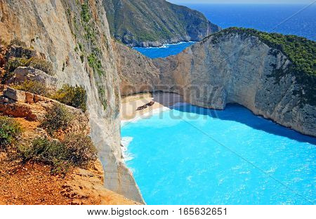 Beautiful view of the island of Zakynthos, Greece