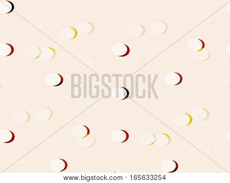 abstract seamless background on beige beige volume pills, buttons