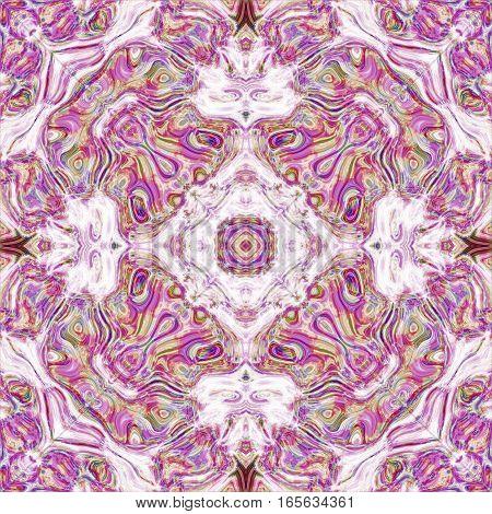 Abstract royal baroque persian victorian symmetric tile design