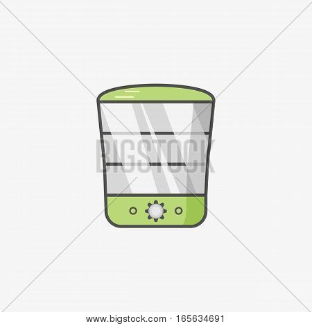 A simple icon for steamer as unit of kitchen equipment