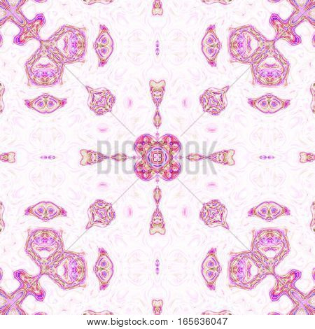 Antique symmetry pink persian vintage victorian motif pattern design