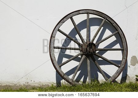 Old Wooden Cartwheel