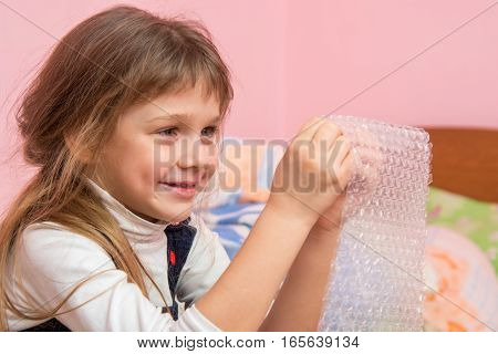 Girl Eats Balls On The Wrapping Paper