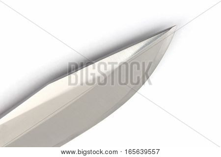 the blade of a knife on a white background