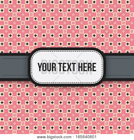 Text Background With Colorful Pattern. Useful For Presentations, Advertising And Scrapbooking.