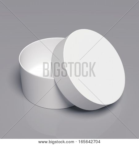 Blank cardboard box template on a grey background, packaging collection, 3D rendering