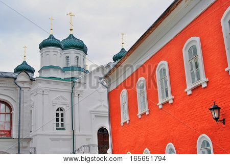 View of Ipatevsky monastery in Kostroma, Russia. A popular touristic landmark.