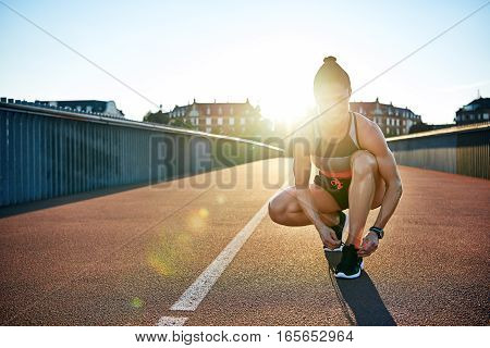 Blinding Sun Shines Over Should Of Woman Jogger