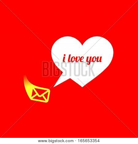 Abstract heart. Declaration of love. Used for postcards, stickers, banners and so on. Vector illustration