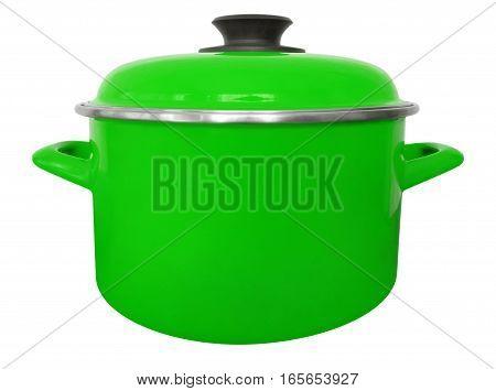 Saucepan Isolated - Green