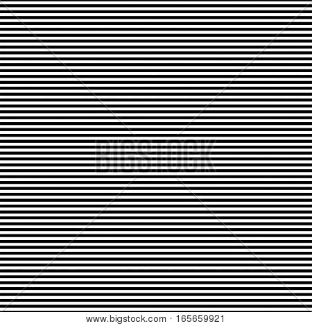 Black and white simple stripes abstract seamless vector pattern, geometric primitive background