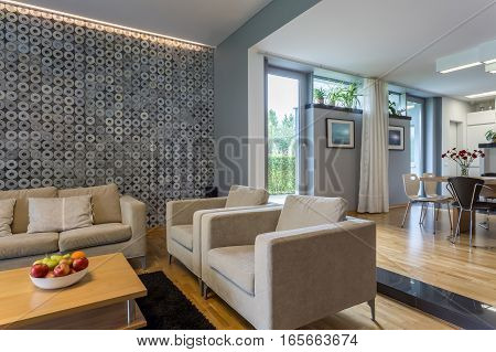Open Living Room With Sofa