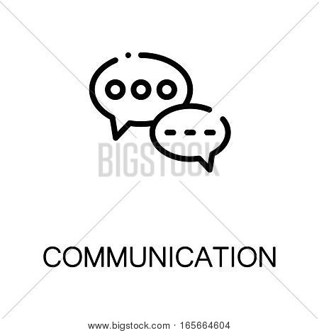 Chat icon. Single high quality outline symbol for web design or mobile app. Thin line sign for design logo. Black outline pictogram on white background